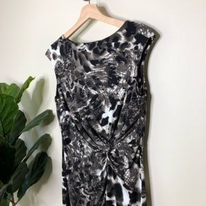 Kenneth Cole animal print sleeveless Ruched dress